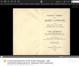 A Practical Grammar of the Arabic Language (PDF)