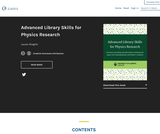 Advanced Library Skills for Physics Research