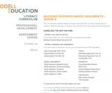 Building Evidence-Based Arguments - Grade 9 - Odell Education