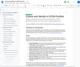 Culture and Identity in STEM Portfolio
