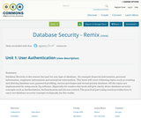 Database Security -Exercise and Case study Solution