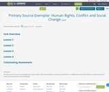 Primary Source Exemplar:  Human Rights, Conflict and Social Change
