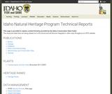 Idaho Comprehensive Wildlife Conservation Strategy