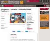 Engineering Capacity in Community-Based Healthcare, Fall 2005