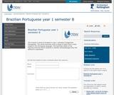 Brazilian Portuguese year 1 semester B