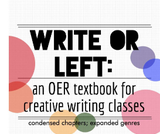 Write or Left: An OER Textbook for Creative Writing Courses