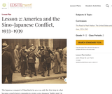 Lesson 2: America and the Sino-Japanese Conflict, 1933-1939