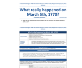 Grade 5 - The Boston Massacre: What really happened on March 5th, 1770