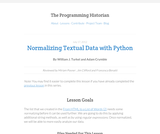 The Programming Historian 2: Normalizing Data