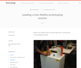 Teach Design : Leading a low-fidelity prototyping session