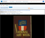 WPA Posters: National Art Week, November 25th - December 1st a Work of American Art in Every American Home.