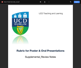 Assessment Rubric for Poster and Oral Presentations