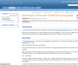 Derivation of Fourier Coefficients Equation