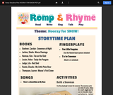 Romp & Rhyme Storytime Lesson Plan: Hooray for Snow!