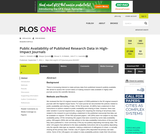 Public Availability of Published Research Data in High-Impact Journals