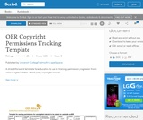 OER Copyright Permissions Tracking Template
