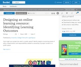 Designing an online learning resource: Identifying Learning Outcomes