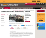 Urban Public Finance in Developing Countries, Fall 2004