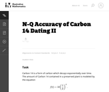 Accuracy of Carbon 14 Dating II