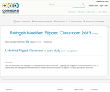 Rothgeb Modified Flipped Classroom 2013