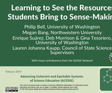 ACESSE Resource G - Learning to See the Resources Students Bring to Sense-Making