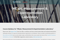 Measurement & Experimentation Laboratory