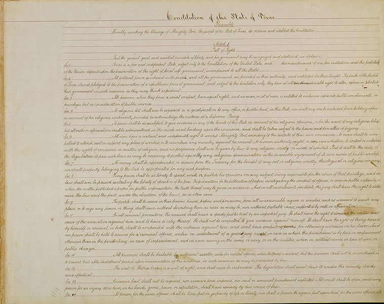 Introduction: The Constitutions of Texas