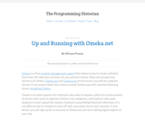 The Programming Historian 2: Up and Running with Omeka.net