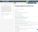 Principles of Chemistry I and Laboratory