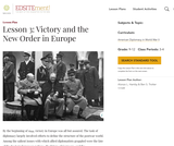 Lesson 3: Victory and the New Order in Europe