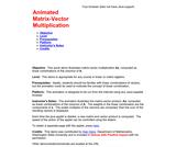 Animated Matrix-Vector Multiplication