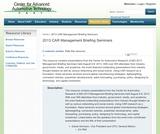 2013 CAR Management Briefing Seminars