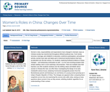 Women's Roles in China: Changes Over Time