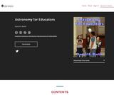 Astronomy for Educators