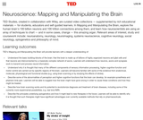 Neuroscience: Mapping and Manipulating the Brain