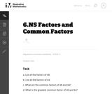 Factors and Common Factors
