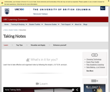 Learning Toolkit: Note Taking
