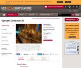 System Dynamics II, Fall 2013