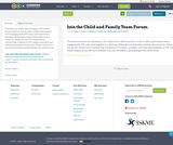 Join the Child and Family Team Forum