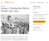 Lesson 2: Turning the Tide in Europe, 1942-1944