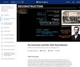 An overview and the 13th Amendment