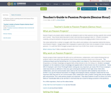 Teacher's Guide to Passion Projects (Genius Hour)