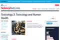 Toxicology 3: Toxicology and Human Health