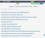 Images of Historic Iowa Maps 1687- 1900