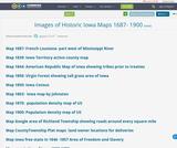 Images of Historic Iowa Maps 1687- 1900