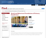 Social and Behavioral Foundations of Primary Health Care