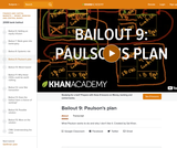 Financial Bailout 9: Paulson's Plan