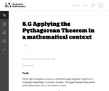 Applying the Pythagorean Theorem in a mathematical context