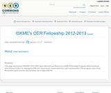 ISKME's OER Fellowship 2012-2013
