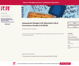 Assessment Design in EL Education's ELA Curriculum, Grades 3-8 (2012)